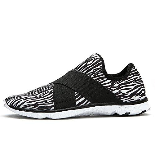 aleader Damen-Walking Schuhe Licht Gewicht Wasser Sneakers Schwarz