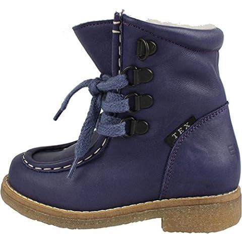 EN-FANT Unisex, botas de cuero, forradas de piel de cordero 813965U