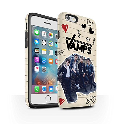 Officiel The Vamps Coque / Matte Robuste Antichoc Etui pour Apple iPhone 6S+/Plus / Pack 5Pcs Design / The Vamps Livre Doodle Collection Stylo Noir