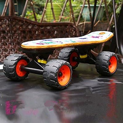 Stllshine Longboard Mountainboard Skateboard Waveboard Räder Part Wheels (Vier Schwarze Räder)