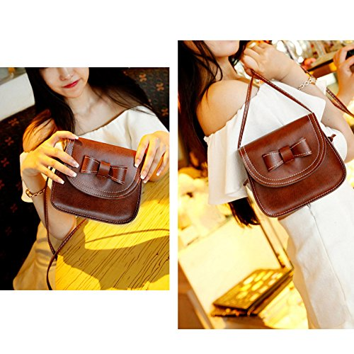 Feixiang, Borsa a spalla donna Light Brown