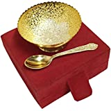Collectible India Royal Gold & Silver Plated Bowl Set With Beautiful Red Velvet Box ( Set Of 2 Pcs)