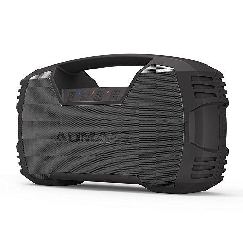 AOMAIS GO Bluetooth Lautsprecher, Kabellose Bluetooth 4.2 Tragbare Lautsprecher mit 30 Stunden Spielzeit, IPX7 Wasserdicht, 30W Stereo Lautsprecher für Outdoor Hausparty, Camping