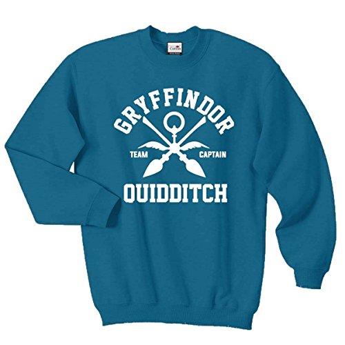 Sweat style Gryffondor/Quidditch, toutes tailles et couleurs, Cadeau Harry Potter Azur