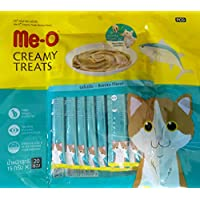 Me-O Fins Fur and Feathers Creamy Treat (Bonito Flavor) -Pack of 20 Sticks