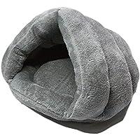 Xiaoyu invierno cálido y cálido mascota cómodo perro de compañía (cachorro) cojín de gato saco de dormir, gris, M
