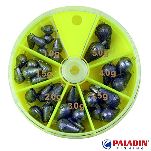 Paladin Wettkampfblei-Sortiment Profi in Spenderdose 1 bis 5 g
