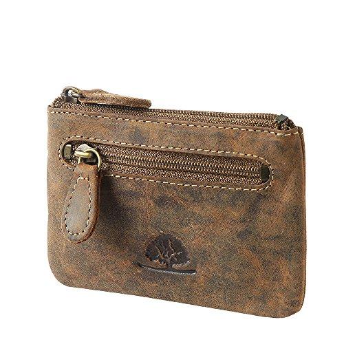 - Brown-leder-schlüsselring (Green Burry, Schlüsseltasche, 1708 Vintage, brown (25), Schlüsseltasche)