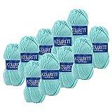 Distrifil - 10 pelotes de laine à tricoter Distrifil AZURITE 3033 pas cher 100% acrylique - 3033
