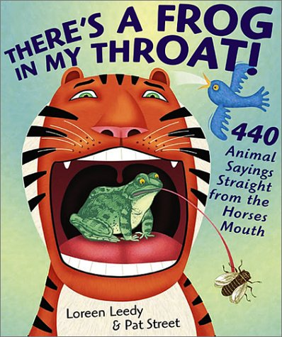 There's a frog in my throat!