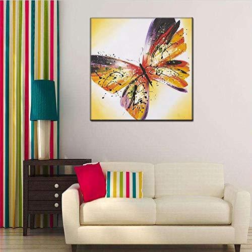 WSNDGWS Mariposa Lienzo Pintura Óleo Animal Decoración