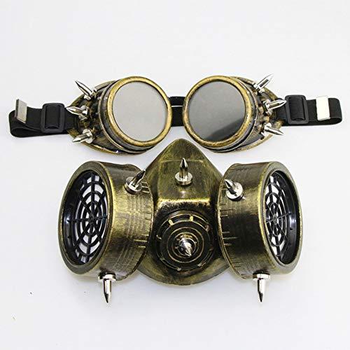 Yuahwyehe Steampunk-Gasmaske Perfekt Für Eine Spaßige Erinnerung,Halloween, Weihnachten, Ostern, Karneval, Kostüm-Partys, Themen-Partys Oder Einfach Den Gang in Einen - Einfache Steampunk Kostüm