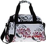 Elephant ® M Sporttasche 40 cm Sport Tasche Reisetasche / Blumen FLORAL WHITE Weiss
