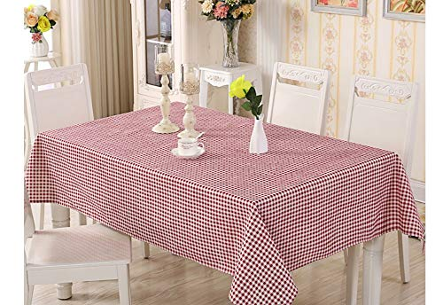 XINGXIAOYU Kleine Frische Stoff Baumwolle Und Leinen Tischdecke, Kreative Rot Karierten Muster Rechteck, Couchtisch Tischdecke Tischdecke, 140 * 250 cm (Marvel Couchtisch)