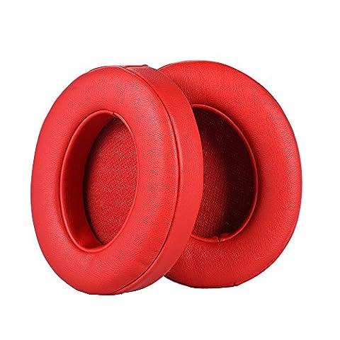 TurnRaise Studio 2 Mousse la Couverture de L'oreille - Protéine Cuir Remplacement Pièces Coussin Coussinets une Oreille Tasses pour Beats Studio 2.0 Câblé / Studio 2.0 Sans Fil B0500 / B0501 (Rouge)
