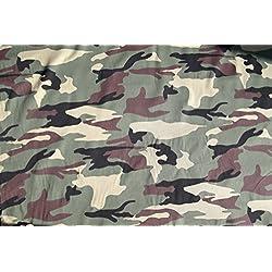 Ejército de camuflaje algodón Tejido Material. Se vende por la hoja 100cm x 148cm).