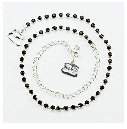 2fa03b61b2423 Diamante Bra Straps Crystal Single Row (One Pair) (Black) - Buy Online in  Oman.