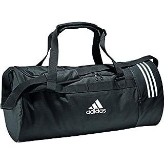 adidas Erwachsene Convertible 3 Stripes S Sporttasche, Black/White, 48 x 23 x 23 cm