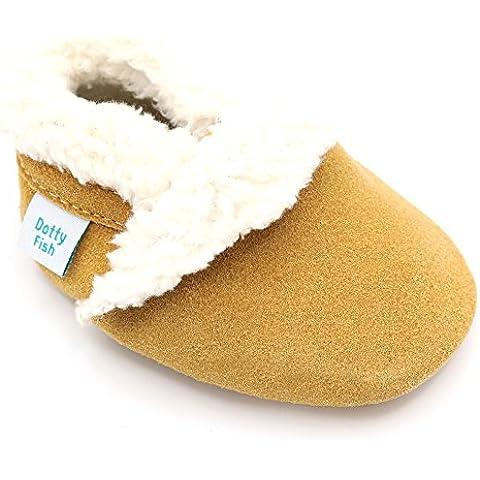 Dotty Fish - Pantofole in pelle scamosciata prima infanzia -