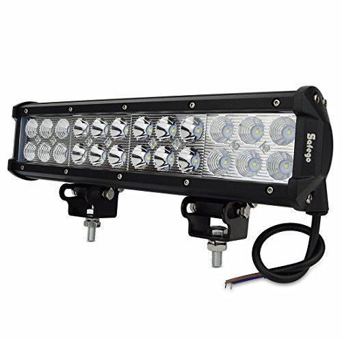 Safego 1 x 12inch 72W LED Scheinwerfer Arbeitslicht Auto Arbeitsscheinwerfer bar Offroad Zusatzscheinwerfer 72W Flutlicht Spotlight Reflektor Car LED Work Light Auto Arbeitsleuchte Offroad12V 24V -
