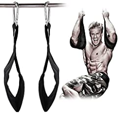 Ab Straps Ab Slings Gym Hanging Fitness Sling Abdominal Straps with Quick Locks for Pull up Fitness Elbow Support 1 Pair
