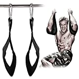 #5: Ab Straps Ab Slings Gym Hanging Fitness Sling Abdominal Straps with Quick Locks for Pull up Fitness Elbow Support 1 Pair