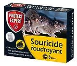 PROTECT EXPERT SOUFOUDC Rats Céréales-8 sachets + boîte d'appatage,...