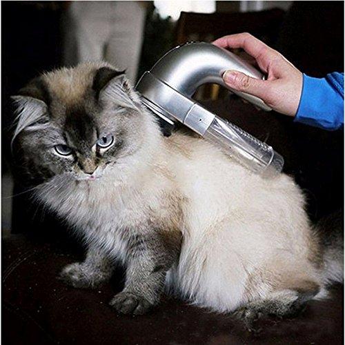 CP & YR Tragbare Elektrische Pet Hair Sauggerät Clipper Diagnose-tool Grooming Pet Pinsel Kamm...