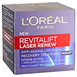 L'Oréal Paris L'Oreal verjüngende Nachtcreme - Revitalift Laser Renew Cream-Mask Night, 1er Pack (1 x 50 ml)