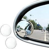 """JTDEAL Blind Spot espejo (2pcs, 2 """"), Rimless HD cristal gran angular 360 ° canvex espejo retrovisor de coche lado espejo Stick de coche universal Fit"""