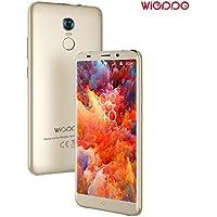 4G Telephone Portable Debloqué 5.7 Pouces, 2G +16Go, 5MP+13MP, (18: 9) HD 1440x720 Écran, Empreintes Digitales, 2970mAh Batterie Android 7.0 Telephone Cellulaire Double SIM Wieppo S8 (Or)