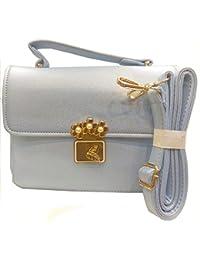 Purse Hut Women's Sling Bag (light Blue) Pack Of 2