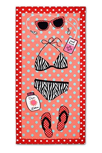 Dsstyles Extra Large Strandtuch Spielraum-Tuch-Mikrofaser Badetuch für Spa Swim Sports Yoga Sonnen Frauen Handtuch Quick Dry Ultra-Leicht - Binkini (Badetuch Frauen)