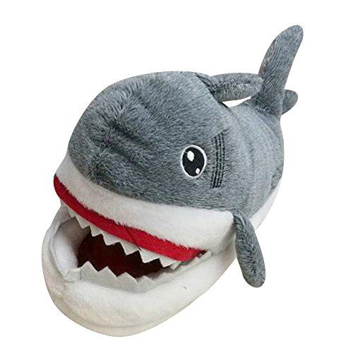 Chaussons Peluche Chaud – Nouveauté Shark Pantoufles Shoes - Homme et Femme Slipper Requin