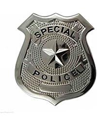 NEW POLICEMAN POLICE WOMAN WPC FANCY DRESS COP HATS TIE HANDCUFFS BATON BRACES (Badge)