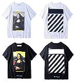 OFF BLACK Mona Lisas Smile Image Rundhals Herren T-Shirt
