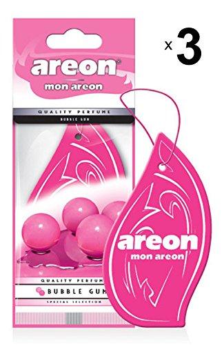 Areon Mon Ambientador Coche Bubble Gum Chicle Rosa Colgante Colgar Olor Perfume...