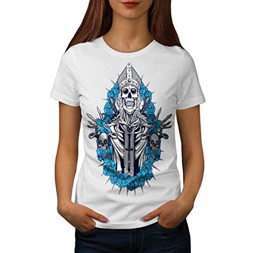 Schädel König Tod Horror Damen S-2XL T-shirt | Wellcoda White