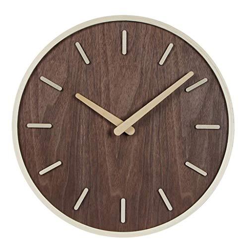 ZHAS Reloj Pared Efecto Madera. Reloj Decorativo Vintage