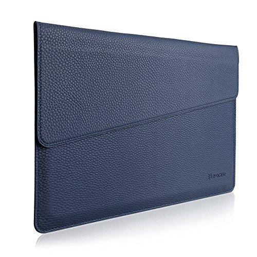 "MacBook 12 Sleeve, Evecase Sottile in Pelle Premium Custodia Portatile per 2015 Nuovo MacBook 12"" con Retina Display - Blu"