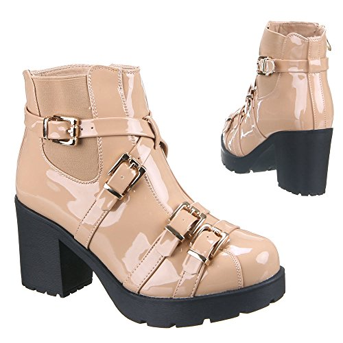 Chaussures, iR - 297, bottines Orange - Apricot
