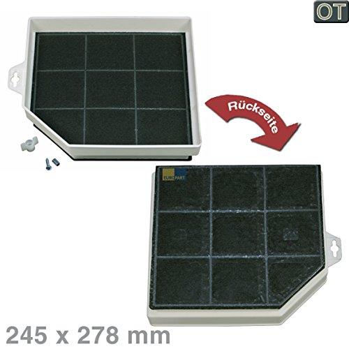 Bosch Siemens 00299600 299600 ORIGINAL Kohlefilter Aktivkohlefilter Filter Geruchsfilter Dunstabzugshaube eckig 245x278mm auch Zubehör DHZ3100 DHZ3106 LZ31000 LZ31501 3AB368T JZ5142X5