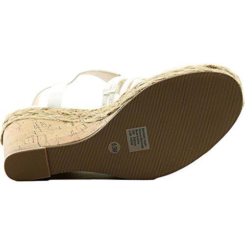 Style & Co Raylynn Kunstleder Keilabsätze Sandale White