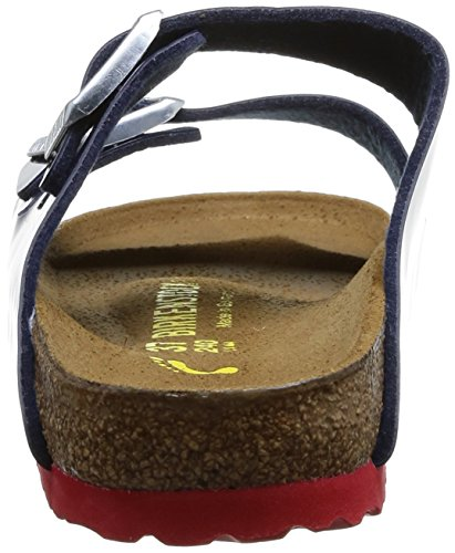 Birkenstock Arizona, Sandales femme Bleu (Vernis Dress Blue/Ls Red)