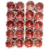 SHREE G Handmade Earthen Clay / Terracotta Decorative Dipawali / Diwali Diya / Tealight / Oil Lamps For Pooja / Puja - Set Of 20 Pcs
