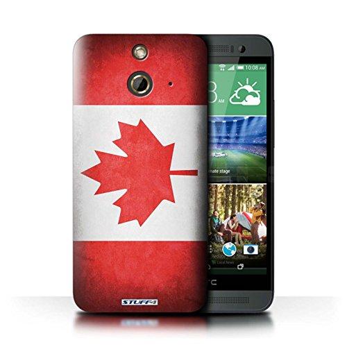 Kobalt® Imprimé Etui / Coque pour HTC One/1 E8 / Corée/coréen conception / Série Drapeau Canada/canadien