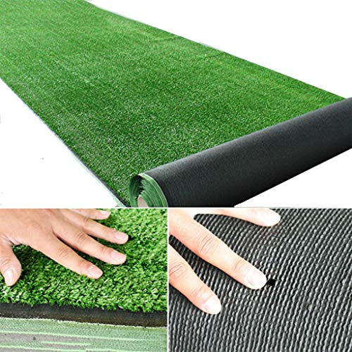 YNFNGXU Synthetische Kunstrasen 10mm Florhöhe, Super Dichten Urlaub Rasen, Natürliche Realistische Restaurant Wand Mit Gras Teppich (1mx2m) (Size : 2x4m) (Teppiche Urlaub)
