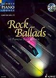 Schott Piano Lounge: ROCK BALLADS (+CD) mit Bleistift -- 16 berühmte Rock-Klassiker u.a. von THE ROLLING STONES und THE SCORPIONS in klangvollen, mittelschweren Arrangements für Klavier von Carsten Gerlitz (Noten / sheet music)