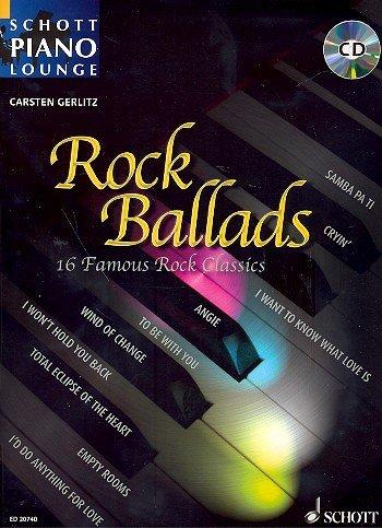 Schott Piano Lounge: ROCK BALLADS (+CD) mit Bleistift -- 16 berühmte Rock-Klassiker u.a. von THE...