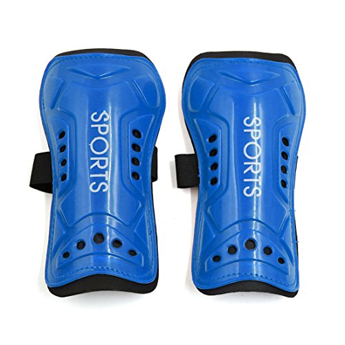 sourcingmap® 2 Pcs Kids Football Shin Pads Soccer Guards Sports Leg Protector Protective Gear Blue